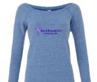 Off Shoulder Fleece Jumper (blue Triblend)